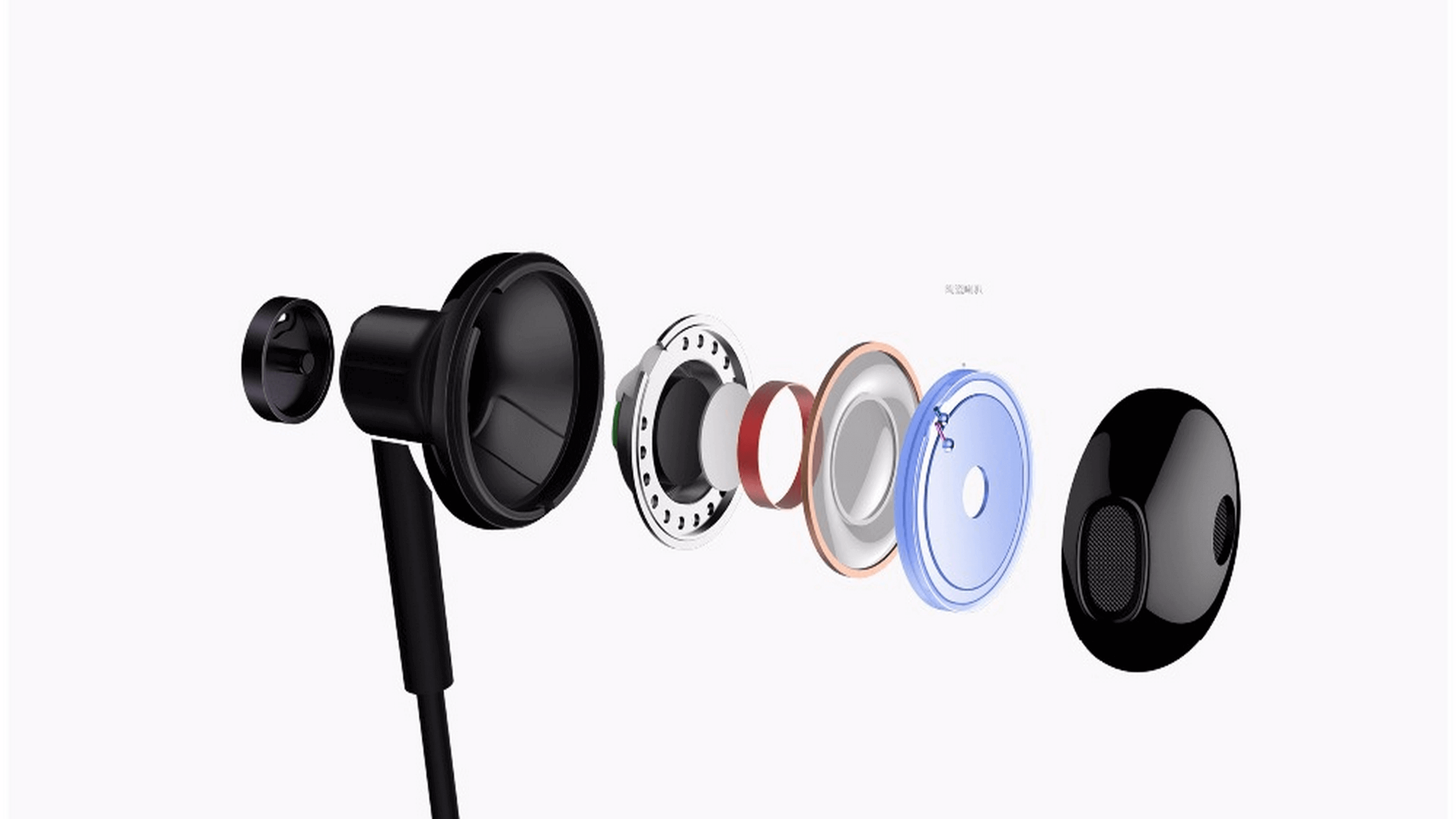 Original Xiaomi Mi Dual Driver 3 5mm Wired Earphone with Microphone 2018 New