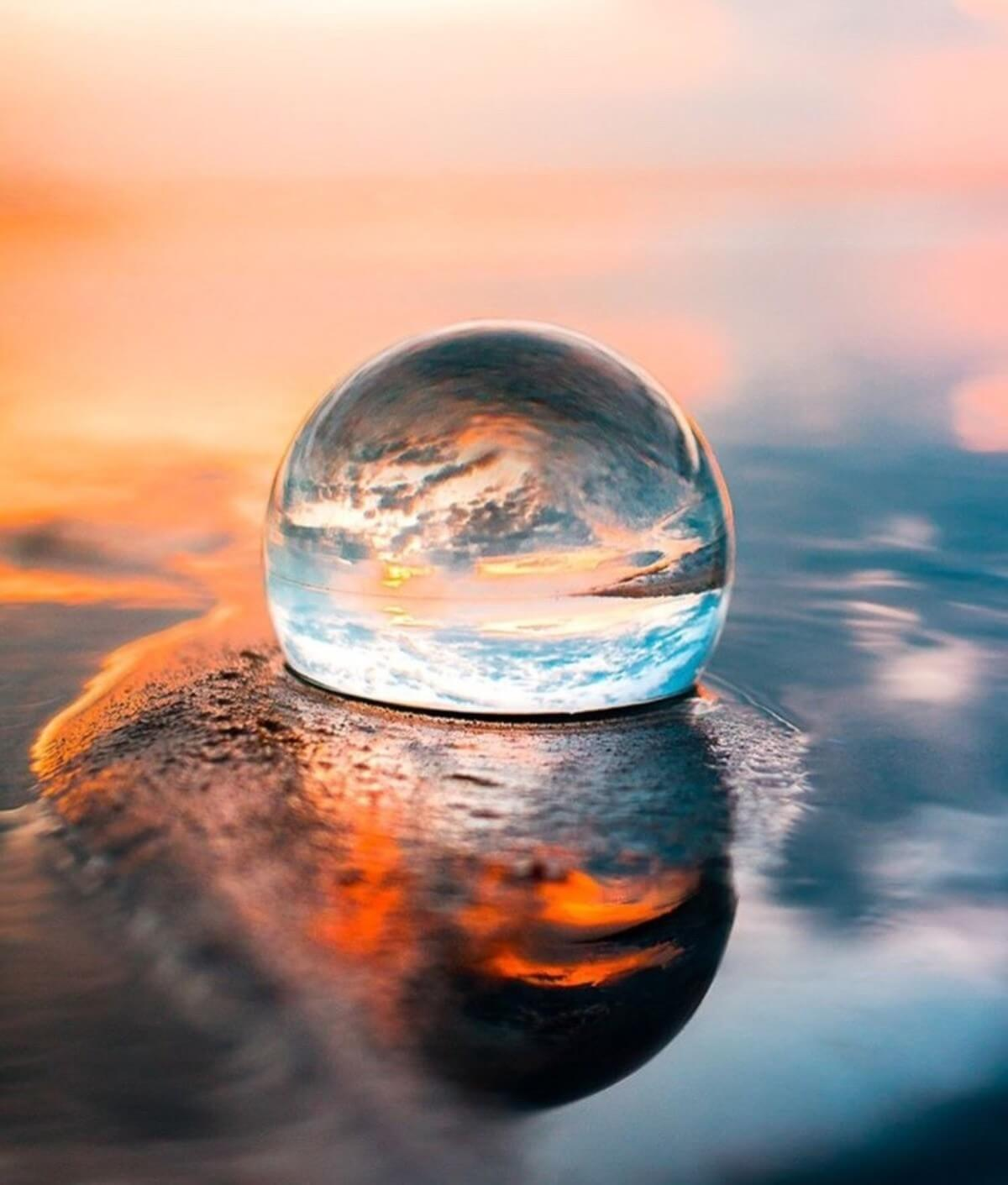 Photography Lensball 80mm Photo Caption