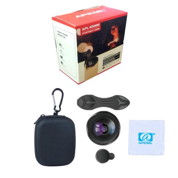 Apexel 65mm HD Pro Portrait Mobile Zoom Lens SOP