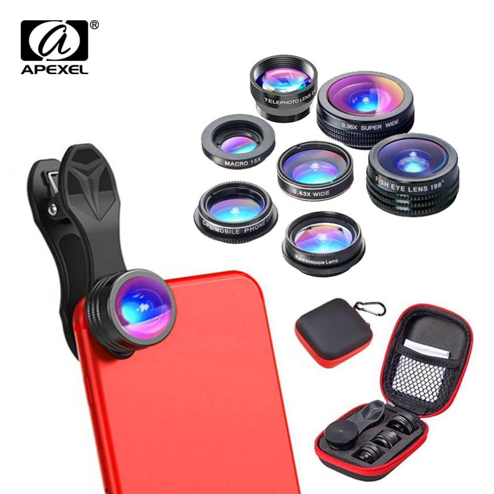 a020c3ea1ef00b Apexel 7in1 Mobile Lens Combo Pack Price in Bangladesh — Source Of ...