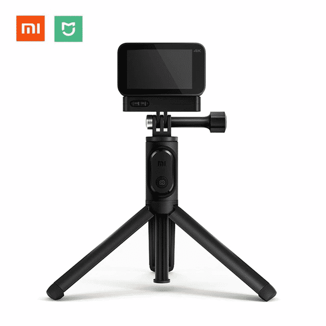on feet images of hot-selling sells Mi Mijia Action Camera Selfie Stick With Tripod