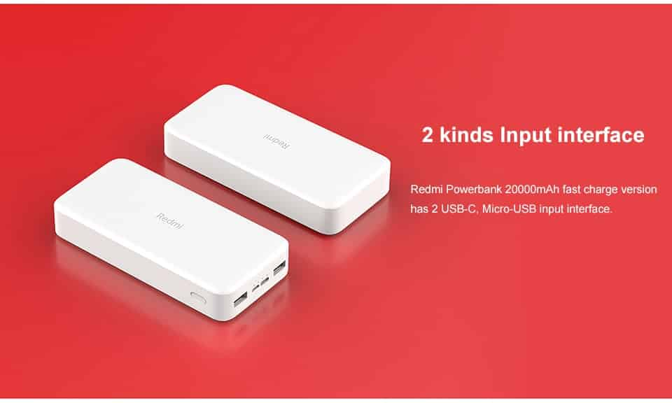 Redmi Power Bank 20000mAh SOP