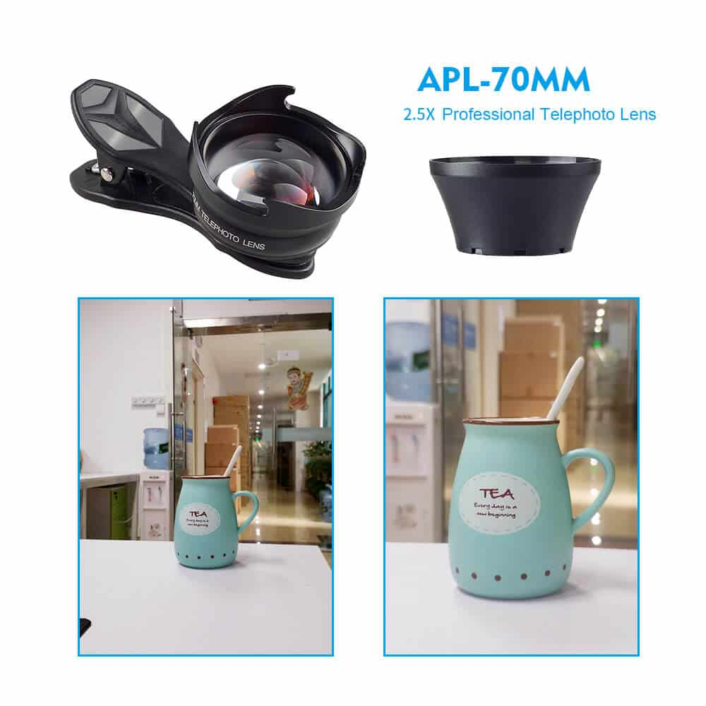 APEXEL 70 MM 2.5X HD Professional Telephoto Lens for SmartPhone SOP