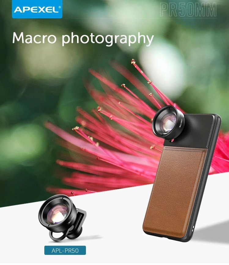 APEXEL Professional 4K 50mm HD Macro Lens for SmartPhone SOP