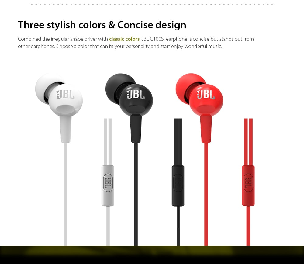 JBL C200SI in-Ear Earphone SOP