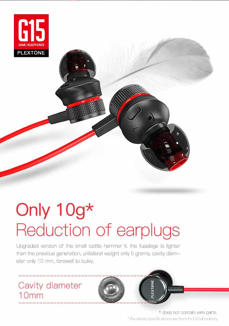 PLEXTONE G15 Magnetic Stereo Gaming Earphone SOP