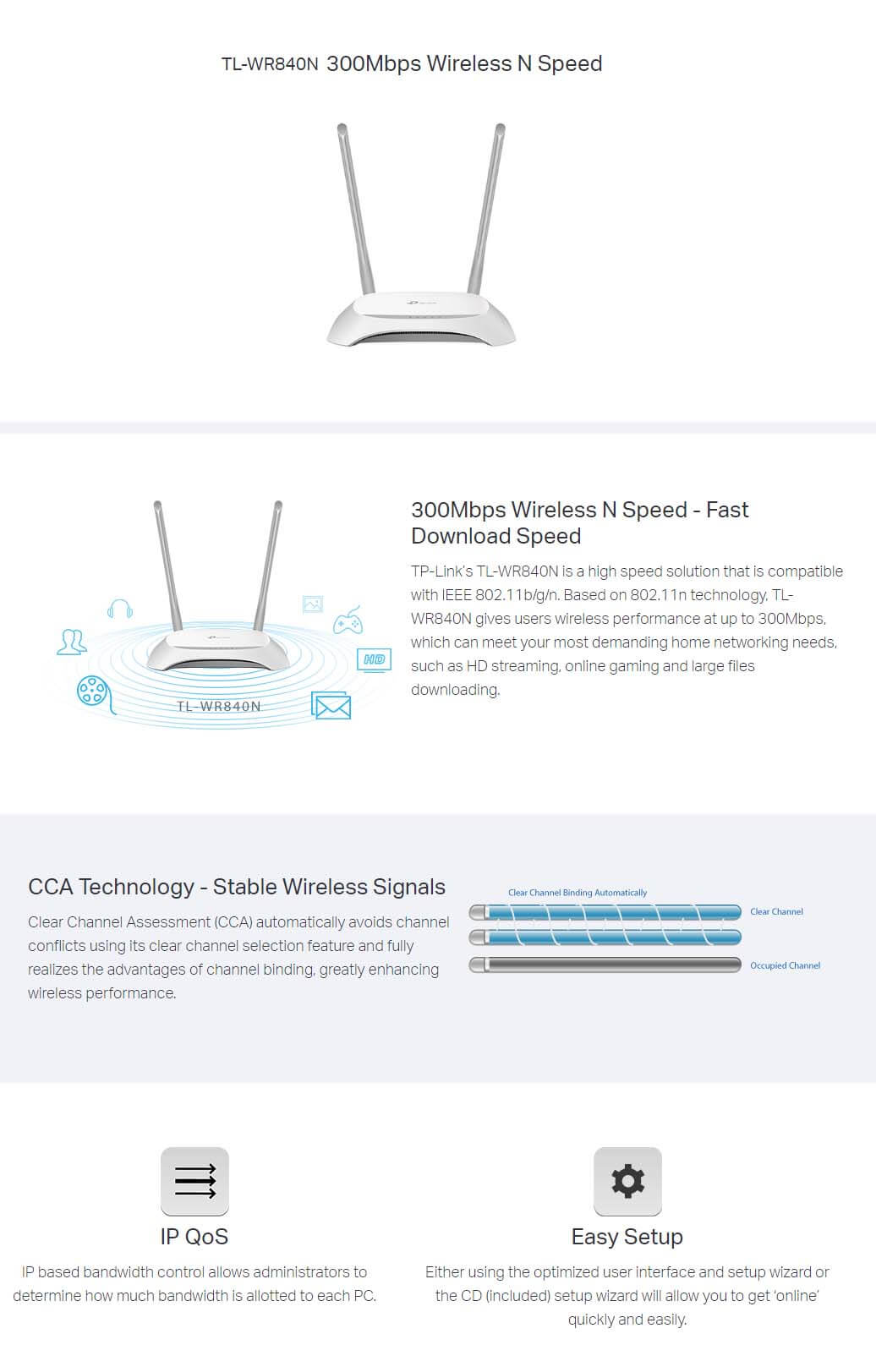 TP-Link TL-WR840N 300Mbps Wireless Router SOP