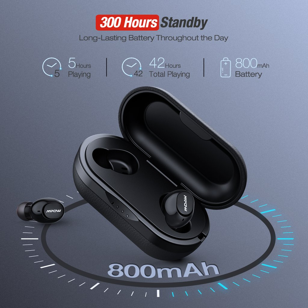 MPOW T5M5 IPX7 Waterproof Wireless Earbuds SOP