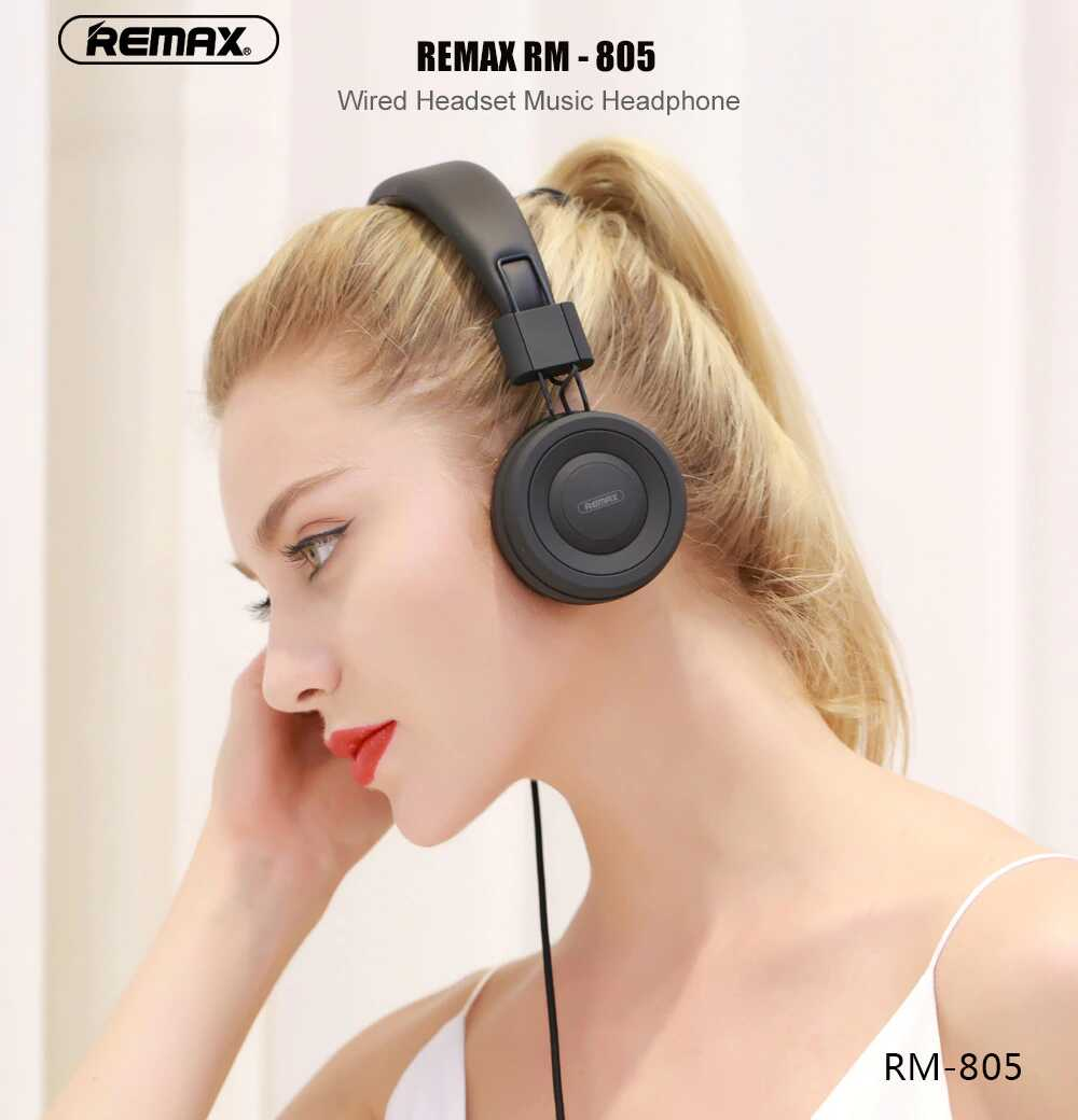 Remax RM-805 Wired Headset Music Over-Ear Headphone SOP