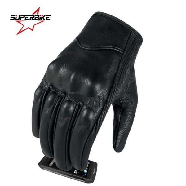SuperBike G01 Leather Touchscreen Gloves SOP